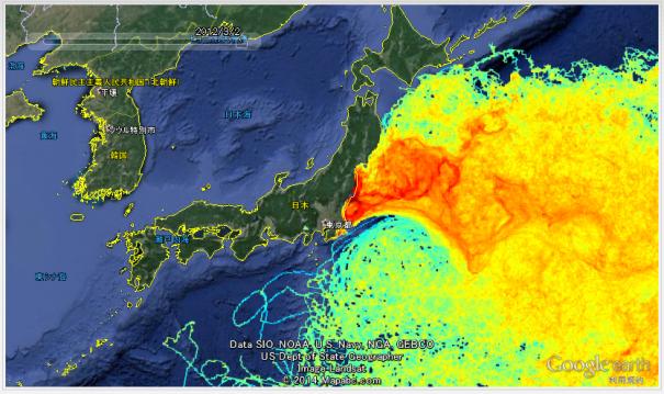 ASR太平洋放射能汚染地図
