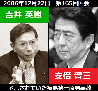 安倍晋三VS吉井英勝