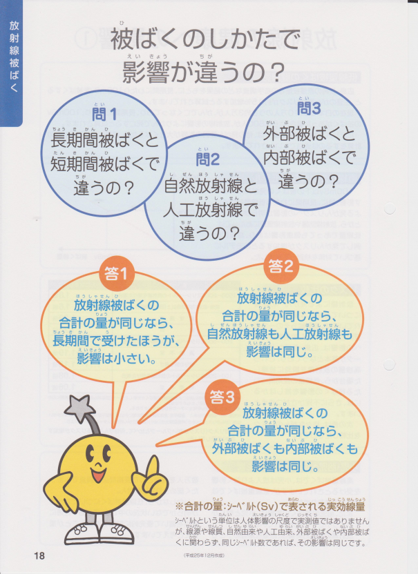 福島県民健康管理ファイルの外部被曝と内部被曝の説明