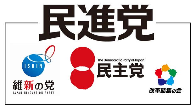 日本の民進党のロゴ