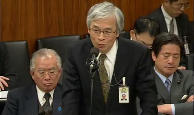 原子力安全・保安院の寺坂信昭院長