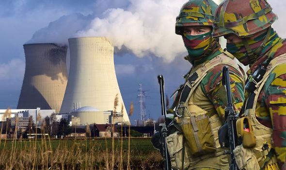 ティアンジュ原発を警護する武装したベルギー軍