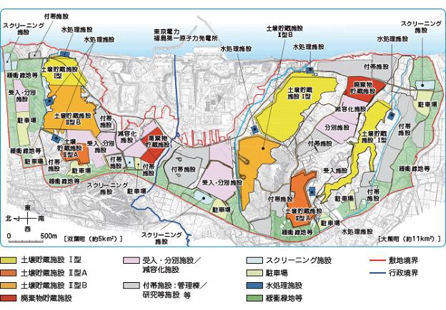 中間貯蔵施設内の施設地図