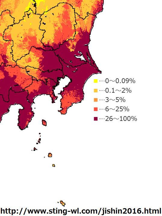 関東の全国地震動予測地図