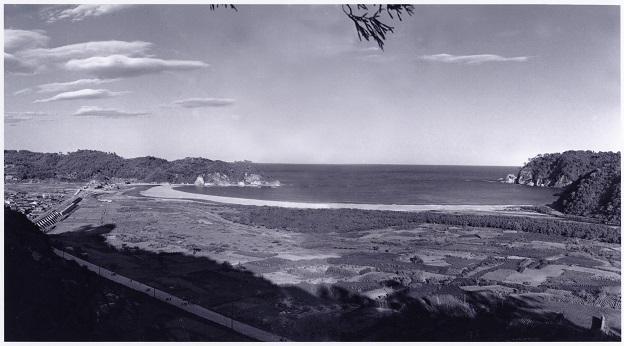 田老の大防潮堤される前の1936年頃の田老町