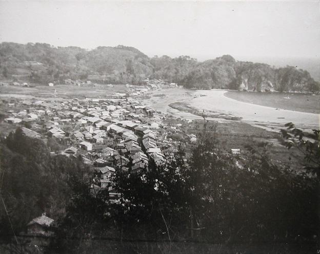 昭和三陸地震の1ヶ月前の田老町の画像