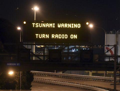 ニュージーランド全域で津波警報が発令