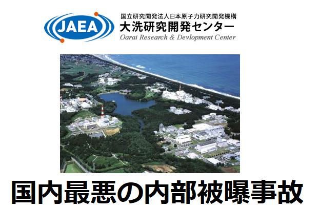 国内最悪の内部被曝事故を起こした日本原子力研究開発機構の大洗研究開発センターの空中写真