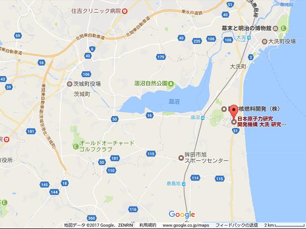 日本原子力研究開発機構の大洗研究開発センターの地図と場所