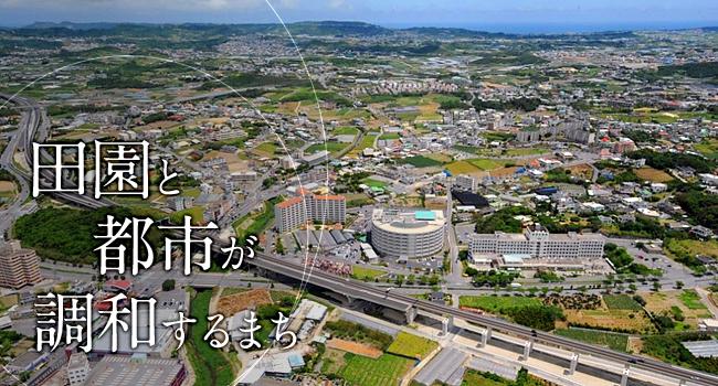 沖縄県八重瀬町の空撮画像